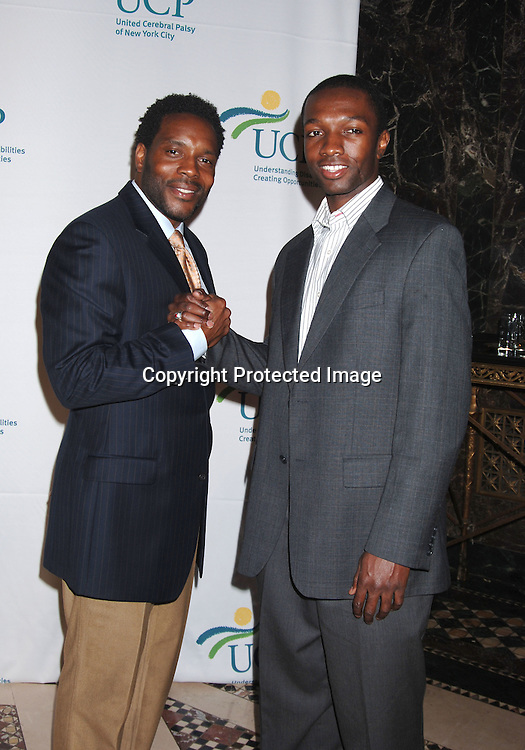 Chad L Coleman and Jamie Hecter of The Wire ..at The 5th Annual Women Who Care Luncheon benefitting ..United Cerebral Palsy of New York City on May 4, 2006 ..at Cipriani 42nd Street...Robin Platzer, Twin Images