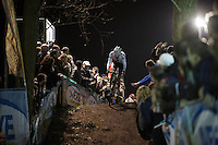 Mathieu Van der Poel (NLD/BKCP-Corendon) leading the race<br /> <br /> Superprestige Diegem 2015