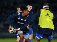 28th February 2020; RDS Arena, Dublin, Leinster, Ireland; Guinness Pro 14 Rugby, Leinster versus Glasgow; Joe Tomane (Leinster) looks to pass inside while warming up