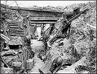 BNPS.co.uk (01202 558833)Pic: HistoryPress/Wikimedia/BNPS<br /> <br /> &lsquo;A&rsquo; Company 11th Battalion, Cheshire in a German trench, 1 July 1916.<br /> <br /> The remarkable story of a humble street which was described by the king as 'the bravest in England' is told in a new book.<br /> <br /> The inhabitants of Chapel Street in Altrincham, Greater Manchester, displayed an unrivalled devotion of duty when Lord Horatio Kitchener made the rallying call for men to enlist in the First World War.<br /> <br /> From the tight-knit community of just 60 houses, a staggering 161 men volunteered - 81 of them on the first day.<br /> <br /> Tragically, however, 29 men from the street were killed in action, more than from any other street in England.