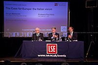 (From L to R) Sergio Mattarella, Paul Kelly &amp; Maurice Fraser. <br />