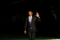United States President Barack Obama returns to the White House after traveling to Miami, Florida, where he delivered remarks about the Affordable Care Act and spoke at a campaign event for Hillary Clinton, Washington, DC, October 20, 20016. <br /> Credit: Aude Guerrucci / Pool via CNP /MediaPunch
