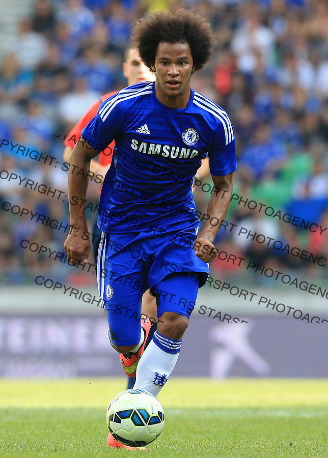 LJUBLJANA, SLOVENIA - JULY 27: Izzy Brown of FC Chelsea in action during the Pre Season Friendly  match between FC Olimpija Ljubljana and FC Chelsea at Stozice stadium in Ljubljana, Slovenia on Sunday, July 27, 2014. (Photo by Srdjan Stevanovic/Getty Images)