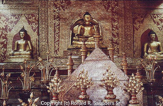THREE BUDDHAS ON ALTER