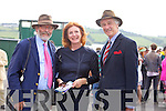 Marcus Berisford, Edel Berisford and Hubert Burkeen enjoying the Listowel Races on Sunday