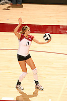 27 October 2005: Jessica Fishburn during Stanford's 3-0 win over Oregon at Maples Pavilion in Stanford, CA.