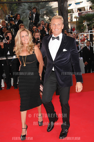 "Dolph Lundgren & Anette Qviberg at world premiere for ""Ocean's Thirteen"" at the 60th Annual International Film Festival de Cannes..May 24, 2007  Cannes, France..© 2007 Paul Smith / Featureflash"
