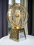 The winner's trophy on display at the presentation of the Artic Race of Norway 2017. 4th January 2017.<br /> Picture: ASO/Benjamin A.Ward | Cyclefile<br /> <br /> <br /> All photos usage must carry mandatory copyright credit (&copy; Cyclefile | ASO/Benjamin A.Ward)