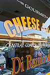 Front Window at Di Riamondo's Gourmet Cheese Shop. Paso Robles, San Luis Obispo County, California