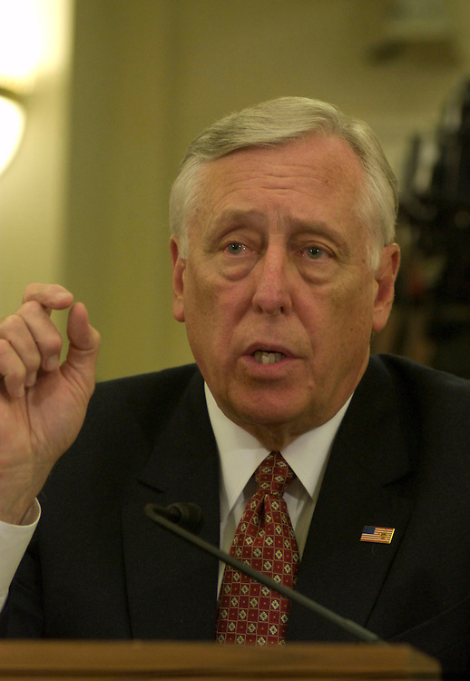 WASHINGTON, DC - May 13, 2008: House Majority Leader Steny H. Hoyer (D-Md.) testifying before a House Select Committee formed to investigate the premature conclusion to 2007 House Roll Call Vote 814 of August 2, 2007.  (Photo by Ryan Kelly/Congressional Quarterly)