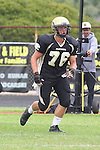 Palos Verdes, CA 09/16/11 - Justin Evans (Peninsula #76) in action during the Culver City-Peninsula varsity football game.