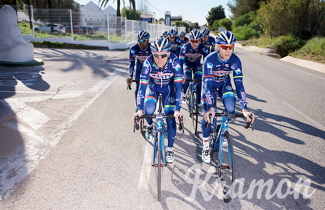 Antoine Demoitié (BEL/Wanty-Groupe Gobert) & Enrico Gasparotto (ITA/Wanty-Groupe Gobert)<br /> <br /> Pro Cycling Team Wanty-Groupe Gobert <br /> <br /> Pre-season Training Camp january 2016