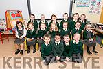 Scoil Eoin Baiste Lios P&oacute;il pupils on their first day at school.<br />  B-L: Amy Diaconu, Emily de Liost&uacute;in, Aoife N&iacute; Sh&uacute;illeabhain, Derek &Oacute; Domhnaill, Cathal &Oacute; Grainne, Seosamh &Oacute; Grif&iacute;n.<br /> M-L: Kaylah McGorlick, Maria N&iacute; &Eacute;inl&iacute;n, Cara Nic Gearailt, Sophie N&iacute; Ghrif&iacute;n, Erin N&iacute; Churrain, Lily N&iacute; Dhuibhir, Lucy N&iacute; Chinn&eacute;ide. F-L: Aodhan &Oacute; S&uacute;illeabhain, Conr&iacute; &Oacute; Brosnachain, Tommy &Oacute; Deargain, Diarmuid &Oacute; Dubhaigh.