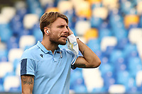 Ciro Immobile of SS Lazio<br /> prior to the Serie A football match between SSC  Napoli and SS Lazio at stadio San Paolo in Naples ( Italy ), August 01st, 2020. Play resumes behind closed doors following the outbreak of the coronavirus disease. <br /> Photo Cesare Purini / Insidefoto