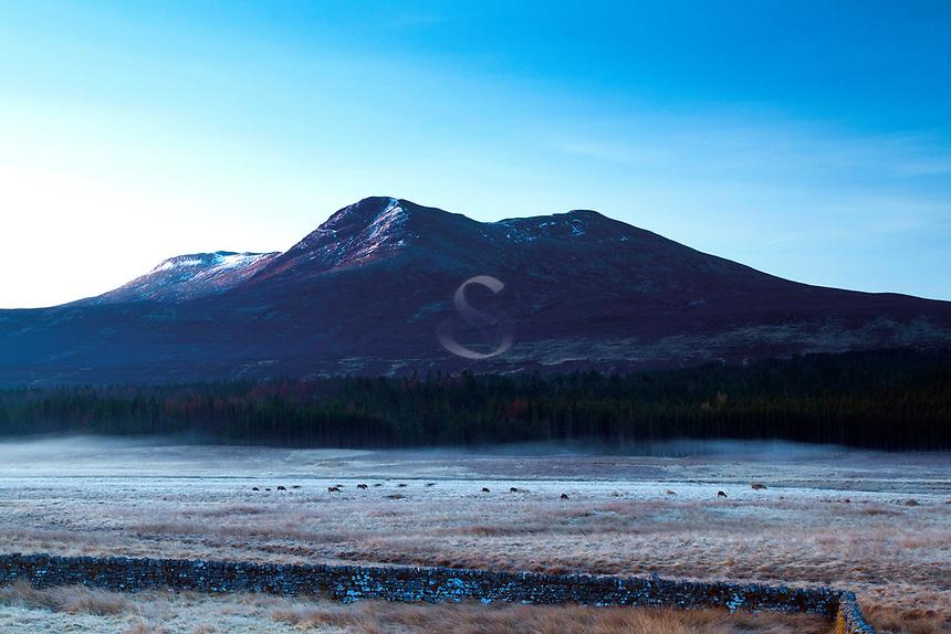 Sgur a Ghlas Leathaid at dawn, Ross-shire, Highland