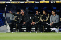 08.04.2012 SPAIN -  La Liga matchday 32th  match played between Real Madrid CF vs Valencia (0-0) and falls to 4 points behind Barcelona, at Santiago Bernabeu stadium. The picture show Jose Mourinho  coach of Real Madrid
