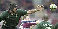 Photo - Peter Spurrier.25/01/2003 .Powergen Cup Quarter final London Irish v Rotherham.Chris Sheasby