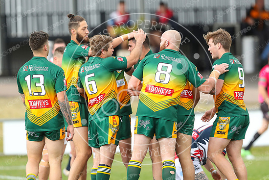 The Wyong Roos play Erina Eagles in Round 18 of the Reserve Grade Central Coast Rugby League Division at Morry Breen Oval on 20 August, 2017 in Kanwal, NSW Australia. (Photo by Paul Barkley/LookPro)
