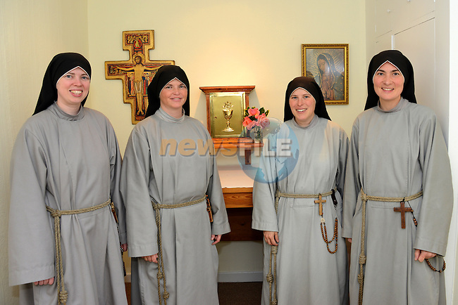 Fanciscan Sisters of the Renewal (from left) Sr. Kelly Francis, Sr. Veronica, Sr. Jacinta, Sr. Monica.
