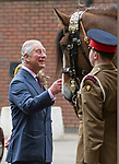 24.10.2017, London; UK: QUEEN ELIZABETH AND PRINCE CHARLES<br />visited the Household Cavalry Mounted Regiment in a joint engagement at Hyde Park Barracks.<br />Picture Shows: Prince Charles meeting Drum Horse Perseus, which was officially named by he Queen during the visit.<br />Mandatory Credit Photo: &copy;MoD/NEWSPIX INTERNATIONAL<br /><br />IMMEDIATE CONFIRMATION OF USAGE REQUIRED:<br />Newspix International, 31 Chinnery Hill, Bishop's Stortford, ENGLAND CM23 3PS<br />Tel:+441279 324672  ; Fax: +441279656877<br />Mobile:  07775681153<br />e-mail: info@newspixinternational.co.uk<br />*All fees payable to Newspix International*
