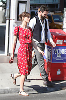 """Keira Knightley and Adam Levine on the set of """"Can a Song Save Your Life?"""" in New York City. © RW/MediaPunch Inc. July 3, 2012. /*NORTEPHOTO.COM*<br /> *SOLO*VENTA*EN*MEXiCO* *CREDITO*OBLIGATORIO** *No*Venta*A*Terceros* *No*Sale*So*third* ***No Se*Permite*Hacer*Archivo** *No*Sale*So*third"""