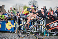 Philippe Gilbert (BEL/Quick Step floors) up the Paterberg 1 last time<br /> <br /> 101th Ronde Van Vlaanderen 2017 (1.UWT)<br /> 1day race: Antwerp › Oudenaarde - BEL (260km)