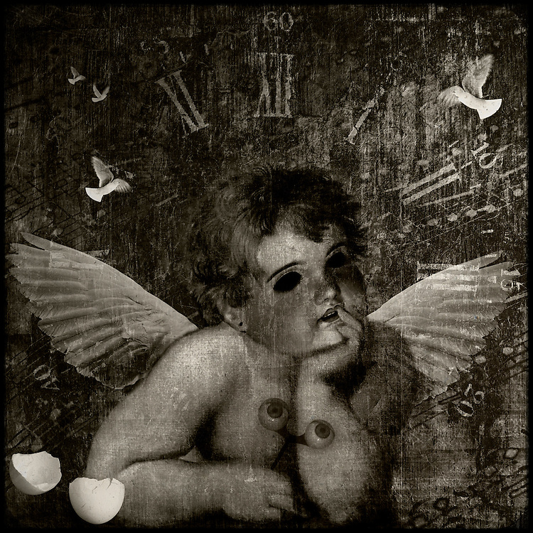 The hours fade to nothingness for a winged boy lost in music.