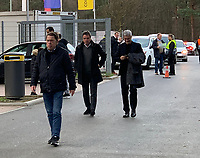 Ex-Vorstandsvorsitzender Heribert Bruchhagen und Ex-Trainer Armin Veh auf dem Weg ins Stadion - 07.03.2019: Eintracht Frankfurt vs. Inter Mailand, UEFA Europa League, Achtelfinale, Commerzbank Arena, DISCLAIMER: DFL regulations prohibit any use of photographs as image sequences and/or quasi-video.