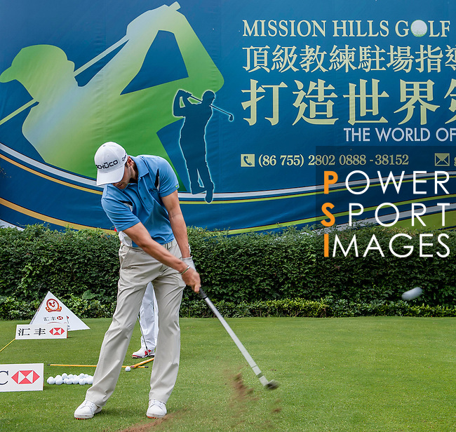 Participants during the Mission Hills World Celebrity Pro-Am at the Dongguang Mission Hills Golf Club, prior to the WGC-HSBC Champions 2012 on October 31, 2012, in China's province of Canton. Photo by Xaume Olleros / The Power of Sport Images for Mission Hills