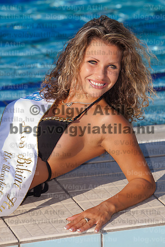 Livia Peter placed second during the Miss Bikini Hungary beauty contest held in Budapest, Hungary. Sunday, 29. August 2010. ATTILA VOLGYI