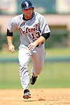 13 March 2007: Detroit Tigers catcher Vance Wilson in the action against the Los Angeles Dodgers at Holman Stadium in Vero Beach, Florida.<br /> <br /> Mandatory Photo Credit: Ed Wolfstein Photo