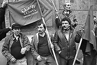 - sciopero e manifestazione sindacale della CULMV (Compagnia Unica Lavoratori e Manovalanza Varia), organizzazione dei lavoratori portuali di Genova (febbraio 1987)....- strike and trade union demonstration of CULMV (Single Company of Worker and Varied Laborers), organization of Genoa port workers (February 1987)