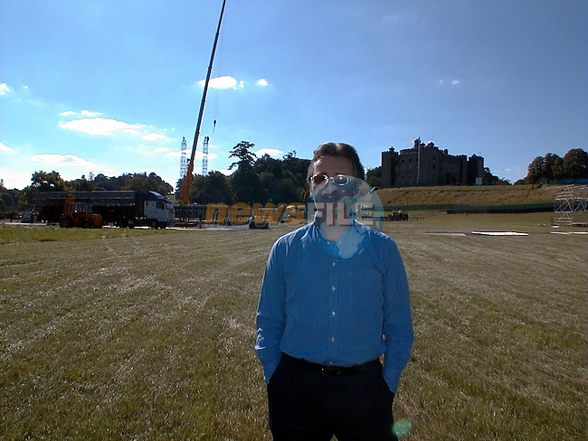 Lord Henry Mt. Charles standing in front of stage in Slane Castle.Pic Fran Caffrey / Newsfile