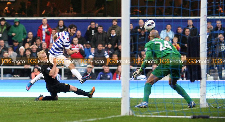 Esteban Granero of QPR goes close - Queens Park Rangers vs Everton, Barclays Premier League at Loftus Road - 21/10/12 - MANDATORY CREDIT: Rob Newell/TGSPHOTO - Self billing applies where appropriate - 0845 094 6026 - contact@tgsphoto.co.uk - NO UNPAID USE.