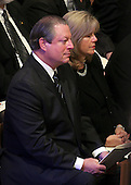 Former Vice President Al Gore and Tipper Gore attend the State Funeral for former United States President Gerald R. Ford at the Washington National Cathedral, in Washington, D.C. on Tuesday, January 2, 2007..Credit: Ron Sachs / CNP.[NOTE: No New York Metro or other Newspapers within a 75 mile radius of New York City].