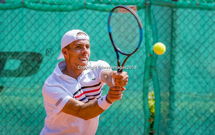 The Hague, Netherlands, 10 June, 2018, Tennis, Play-Offs Competition, Scott Griekspoor (NED)<br /> Photo: Henk Koster/tennisimages.com