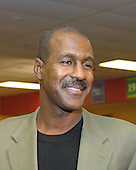 Former Washington Redskins wide receiver Art Monk (81) at Redskins Park in Ashburn, Virginia on November 28, 2005.  Monk, who was picked by the Redskins in the first round of the 1980 NFL Draft, played for them from 1980 through 1993.  Monk played for the New York Jets in 1994 and the Philadelphia Eagles in 1995 before retiring.  He was inducted into the NFL Hall of Fame in 2008.  <br /> Credit: Arnie Sachs / CNP