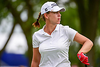 Karine Icher (FRA) watches her tee shot on 18 during Thursday's round 1 of the 2017 KPMG Women's PGA Championship, at Olympia Fields Country Club, Olympia Fields, Illinois. 6/29/2017.<br /> Picture: Golffile | Ken Murray<br /> <br /> <br /> All photo usage must carry mandatory copyright credit (&copy; Golffile | Ken Murray)