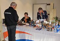 March 5, 2015, Netherlands, Hilversum, Tulip Tennis Center, NOVK, match control<br /> Photo: Tennisimages/Henk Koster