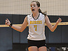 Wantagh No. 7 Carly Sullivan reacts during a Nassau County varsity girls' volleyball match against South Side at Wantagh High School on Friday, October 23, 2015. Wantagh won 25-15, 25-17, 28-26.<br /> <br /> James Escher