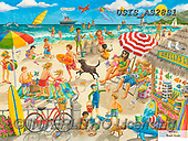 Ingrid, CHILDREN, KINDER, NIÑOS, paintings+++++,USISAS28S1,#k#, EVERYDAY,beach scene