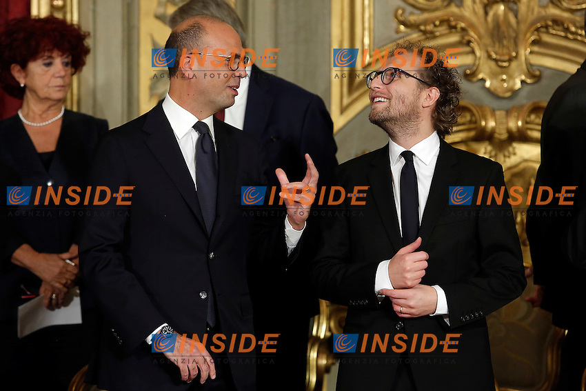 Angelino Alfano e Luca Lotti<br /> Roma 12-12-2016. Quirinale Cerimonia del giuramento die Ministri<br /> Rome December 12th 2016. Swearing ceremony of the new Government<br /> Foto Samantha Zucchi Insidefoto