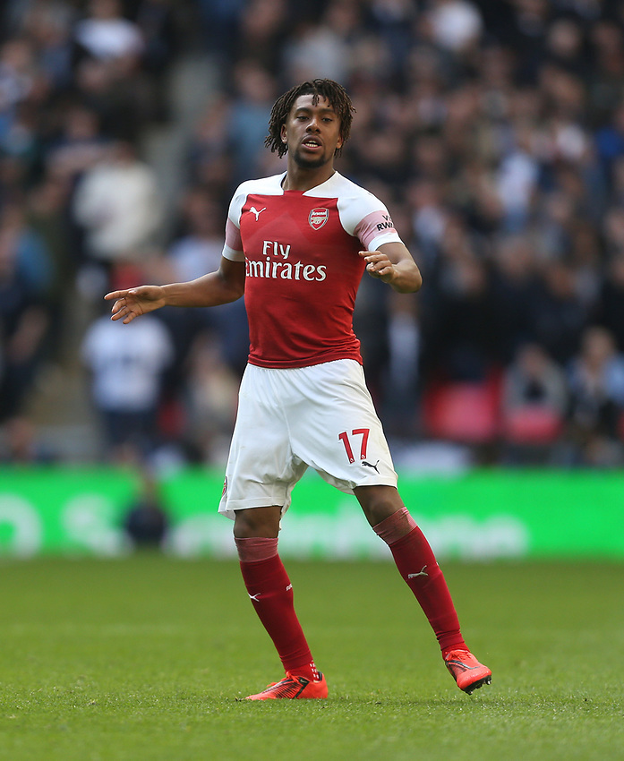 Arsenal's Alex Iwobi<br /> <br /> Photographer Rob Newell/CameraSport<br /> <br /> The Premier League - Tottenham Hotspur v Arsenal - Saturday 2nd March 2019 - Wembley Stadium - London<br /> <br /> World Copyright © 2019 CameraSport. All rights reserved. 43 Linden Ave. Countesthorpe. Leicester. England. LE8 5PG - Tel: +44 (0) 116 277 4147 - admin@camerasport.com - www.camerasport.com