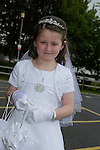Avneek Thompson at first communion in Holy Family church.<br /> Picture www.newsfile.ie