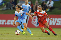 Boyds, MD -Saturday August 26, 2017: Danielle Colaprico, Mallory Pugh during a regular season National Women's Soccer League (NWSL) match between the Washington Spirit and the Chicago Red Stars at Maureen Hendricks Field, Maryland SoccerPlex.
