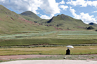 Nangqen County, Yushu Tibetan Autonomous Prefecture, Qinghai Province, China - Countryside, August 2019.