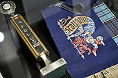 ACDC exhibition at Kelvingrove Art Gallery and Museum - Glasgow - Apollo (Glasgow) award trophy and Scotland scarf - picture by Donald MacLeod - 16.9.11 - clanmacleod@btinternet.com 07702 319 738 donald-macleod.com