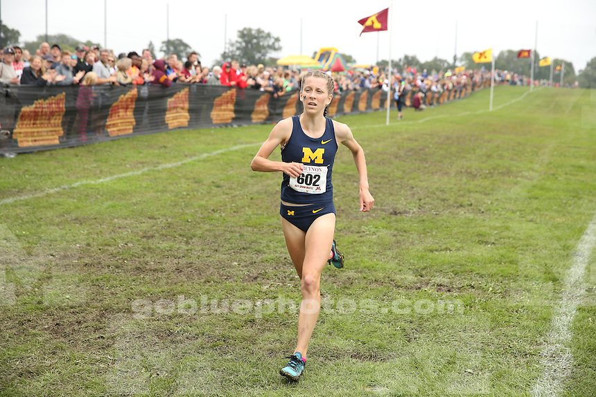 University of Michigan women's cross country team compete in the University of Minnesota Roy Griak Invitational Cross Country meet at Les Bolstad Golf Course in St. Paul, Minn., on Sept. 24, 2016.