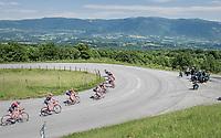 U-turning peloton<br /> <br /> Stage 6: Le parc des oiseaux/Villars-Les-Dombes &rsaquo; La Motte-Servolex (147km)<br /> 69th Crit&eacute;rium du Dauphin&eacute; 2017