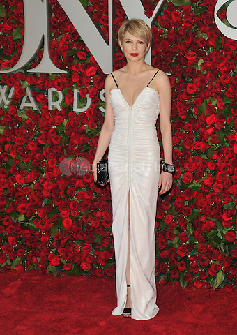 NEW YORK, NY - JUNE 12: Michelle Williams at the 70th Annual Tony Awards at The Beacon Theatre on June 12, 2016 in New York City. Credit: John Palmer/MediaPunch